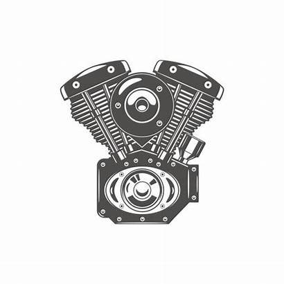 Engine Motorcycle Clip Vector Illustrations Illustration Cartoons