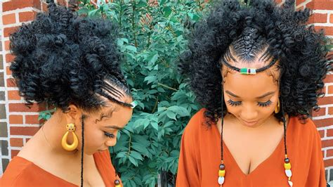 quick easy festival hairstyle ethiopian hair inspired