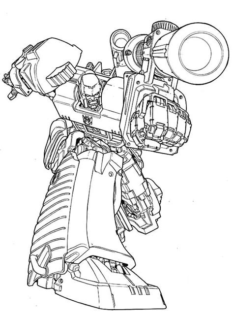 megatron coloring page coloring home