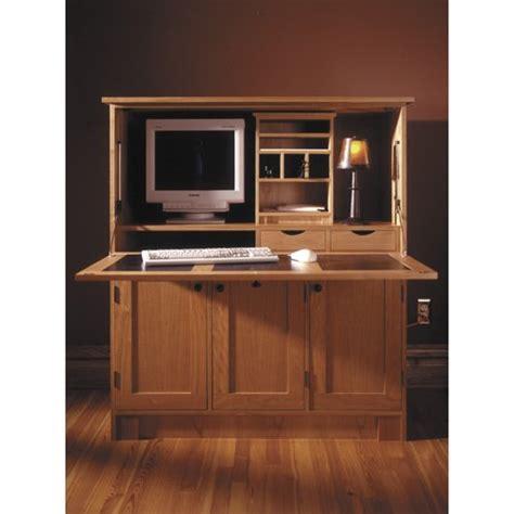 wood laptop stand plan home office hideaway computer desk