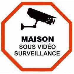 Video Surveillance Maison : sticker s curit maison etiquette autocollant ~ Premium-room.com Idées de Décoration