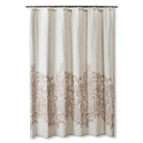 threshold shower curtains threshold kareem embroidered paisley shower curtain