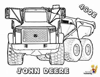 Coloring Construction Pages Deere John Tractor Truck