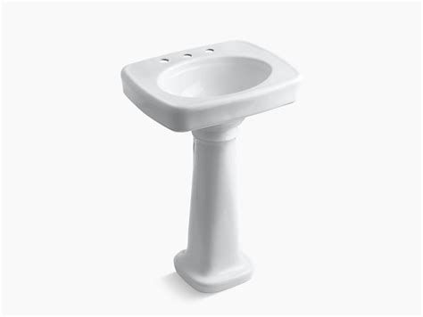 Bancroft Pedestal Sink With 8-inch Centers
