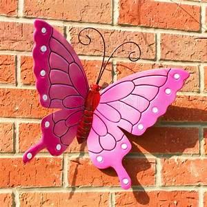 Butterfly outdoor ext lrg new pink metal butterflies