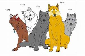 Drawn wolf wolf pack - Pencil and in color drawn wolf wolf ...