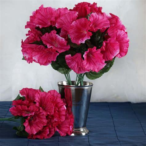 12 Silk Petunia Bushes Artificial Wedding Party Flowers