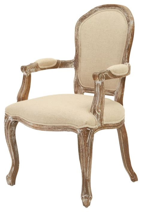 Queen Ann Weathered Oak Armchair  Traditional Armchairs