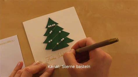 weihnachtskarten basteln youtube