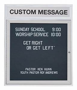enclosed letter boards 24 x 36 w custom header display With custom letter board