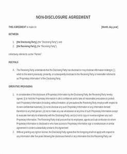 20 elegant non disclosure agreement letter sample pics for Nda template word document