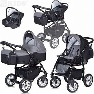 Kombi Kinderwagen 2 In 1 : kombi kinderwagen 3in1 mit babyschale wanne buggy passo ~ Jslefanu.com Haus und Dekorationen