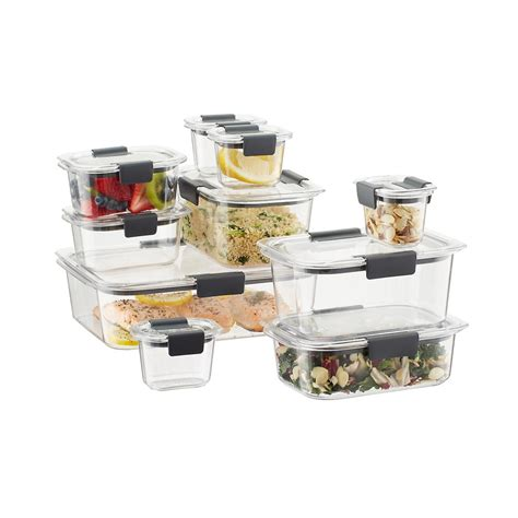 Rubbermaid Brilliance Food Storage Containers Set Of 20