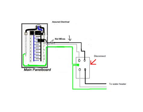 could you please describe the proper way to wire a 220 volt demand water heater to a square d