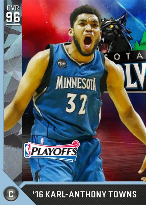 karl anthony towns  myteam diamond card karl