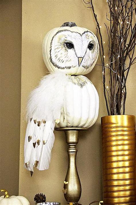fall pumpkin owl project  decoart