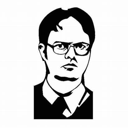 Dwight Schrute Office Carving Drawing Sticker Pumpkin