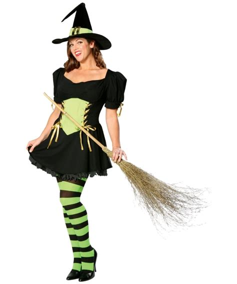 how to make a size witch for adult the emerald witch plus size halloween costume women costumes