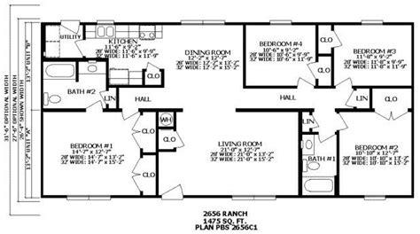 Beautiful 2 Bedroom 2 Bath Ranch House Plans
