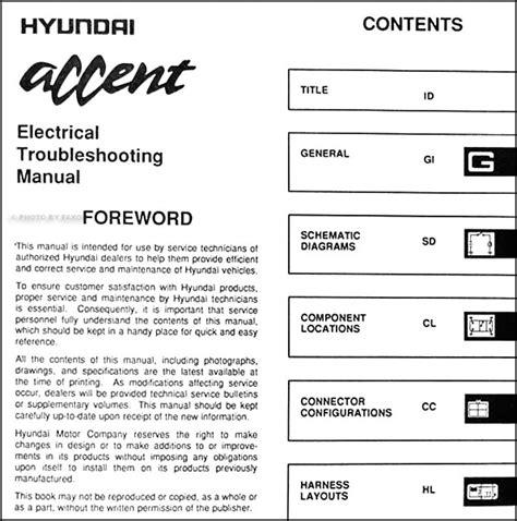 electric and cars manual 1995 hyundai accent electronic valve timing 1995 hyundai accent electrical troubleshooting manual original