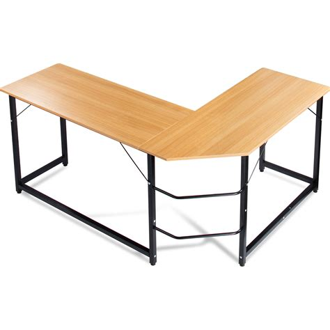 table l luxxetta l shaped office computer desk bf cd10beg b h