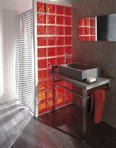 Mur En Brique De Verre Salle De Bain : des briques de verre dans votre salle de bains leroy merlin ~ Dailycaller-alerts.com Idées de Décoration