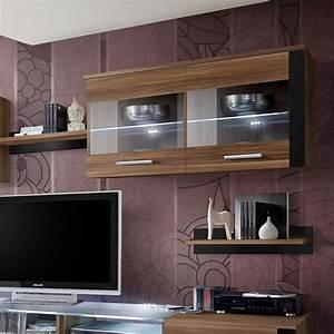 Meuble Tv 250 Cm : meuble tv mural design zoom 250cm prunier noir ~ Teatrodelosmanantiales.com Idées de Décoration