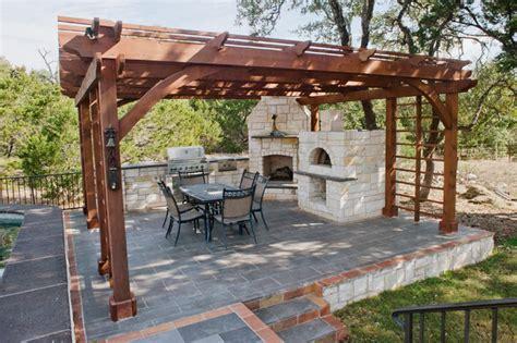 outdoor rustic kitchen rustic porch austin