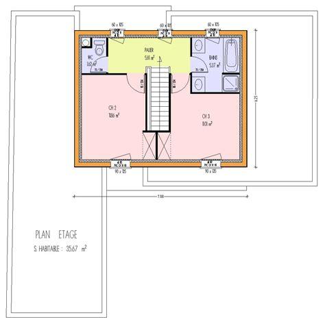 plan maison a etage 3 chambres maison bois 3 chambres 123 00 m 3 chambres loire