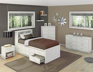 Corliving, Willow, Twin, Captains, Storage, Bed, With, 6, Drawers, -, Frost, White, -, Walmart, Com