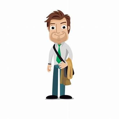 Cartoon Businessman Transparent Hombre Empresario Svg Animados