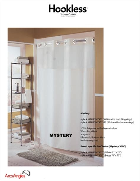 the hookless 174 shower curtain mystery curtain