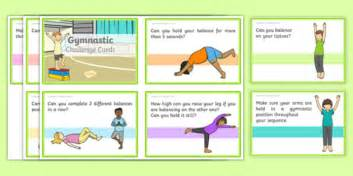 gymnastic challenge cards pdf cards eyfs physical