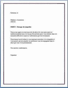 Lettre Deces : lettre de condol ances m re ou p re en retard lettre de condol ances ~ Gottalentnigeria.com Avis de Voitures