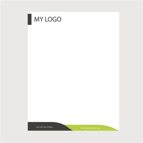 creative business letterhead template design  vector