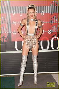 Miley Cyrus Wears Almost Nothing On MTV VMAs 2015 Red