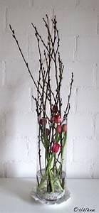 Blumenzwiebeln Im Glas : tulpen mit weidenk tzchen im glas wohnung pinterest tulpe glas und ostern ~ Markanthonyermac.com Haus und Dekorationen