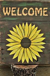 Sunflower, Welcome, Sign, Free, Stock, Photo