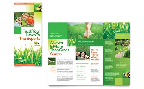 Lawn Mowing Service Brochure Template Word Publisher Lawn Maintenance Tri Fold Brochure Template Word Publisher