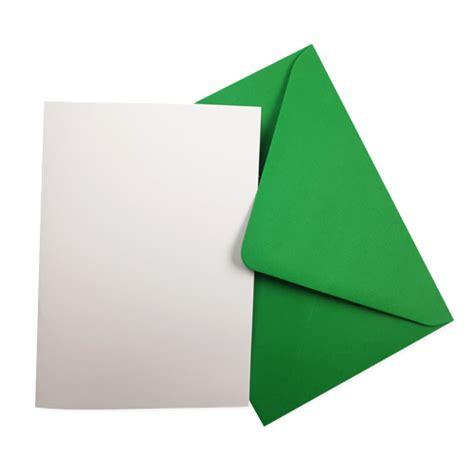 white card blanks green envelopes pack