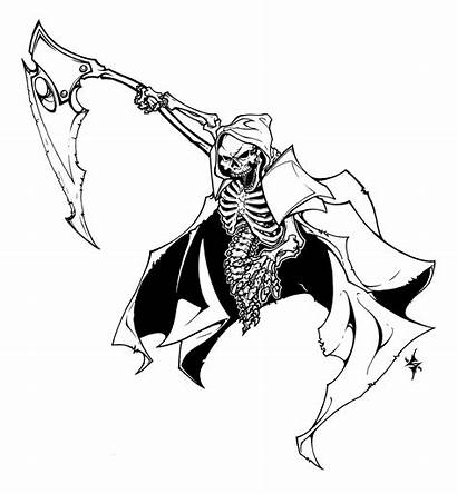 Reaper Grim Drawing Coloring Face Pages Skull