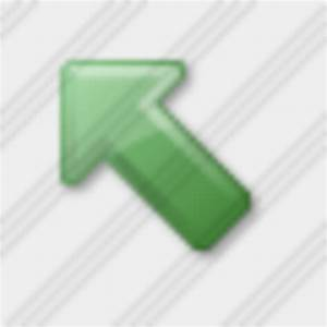 Icon Arrow Up Left Green 2 | Free Images at Clker.com ...