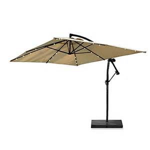 13 6 foot rectangular solar lighted cantilever umbrella with base bed bath beyond