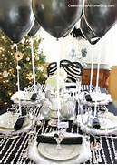 Table Decorations Black And White Theme Designed This Holiday Glam Table For The Party Dress Holiday Table