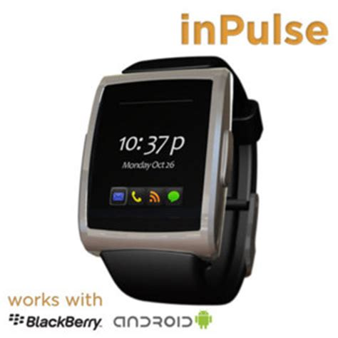 inpulse smartwatch for blackberry and android smartphones