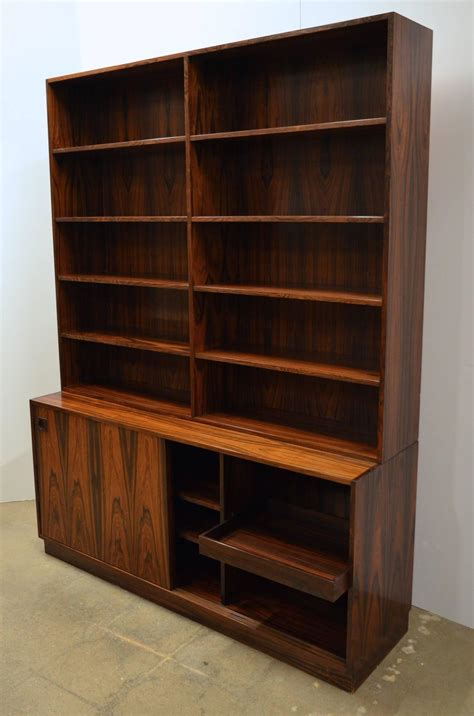 mid century bookcase for sale mid century modern danish rosewood bookcase for sale at