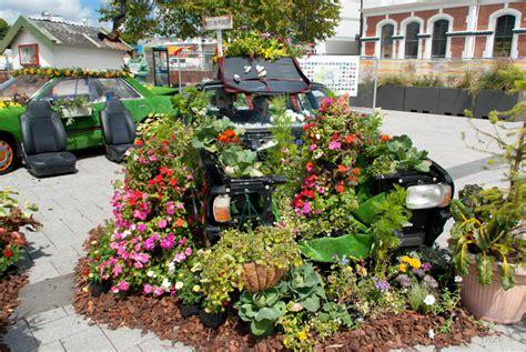 spring salvaging   turn  car parts  gardening