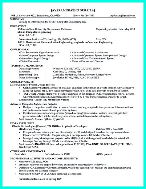 resume objective example engineering the perfect computer engineering resume sample to get job soon