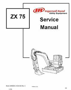 Bobcat Zx 75 Hydraulic Excavator Service Manual Pdf