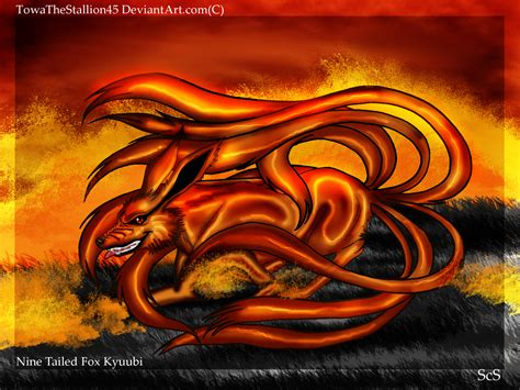 tailed kyuubi fox  towathestallion  deviantart